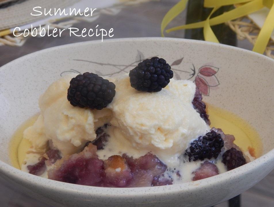 Summer Blackberry Cobbler - Delightfully Styled